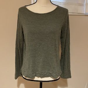 Madewell olive green top size L VGUC